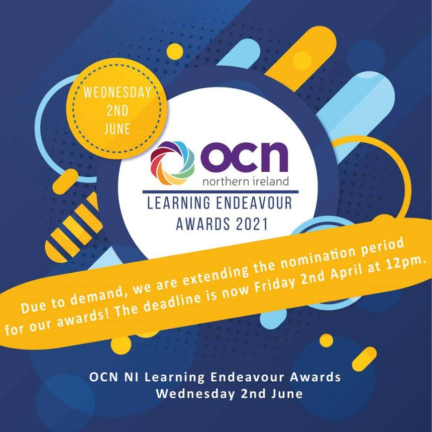 OCN NI Learner Awards 2021 – Deadline Extended